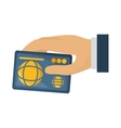 hand human with credit card vector image