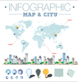 infographic map and city vector image