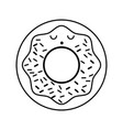 kawaii donut cartoon vector image