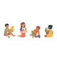 kindergarten kids learning to count education vector image