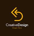 letter d arrow development creative business logo vector image vector image