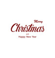 merry christmas typography christmas card vector image vector image