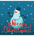 Mery Christmas greeting card design vector image vector image