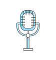 microphone to sing music in the performance vector image vector image