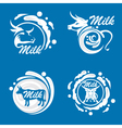 milk icons image vector image