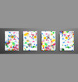 mixture of acrylic paints fluid art collection vector image vector image