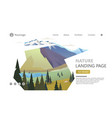 modern landscape background trees and mountain vector image vector image