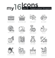 Modern thin line icons set of supermarket shopping vector image vector image
