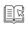 monochrome online library icon vector image vector image