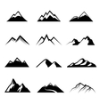 Mountains black icons vector image vector image