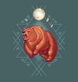 native americans totemic animal cartoon vector image