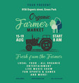organic farmer market flyer a4 format locally vector image