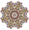 ornamental geometric doily pattern vector image