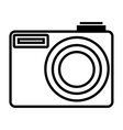 Photographic camera isolated flat icon vector image vector image