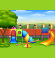 playground in the park vector image