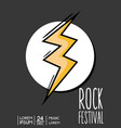 rock festival event music concert vector image vector image