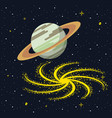 saturn in the space vector image
