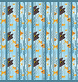 seamless pattern curious kitty watching aquarium vector image