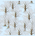 seamless winter forest vector image