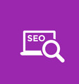 seo icon with laptop vector image