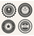 set blank retro vintage badges and labels vector image vector image