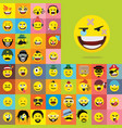 set emoticons set emoji isolated vector image
