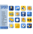Set of sport icons Flat style design with long vector image vector image