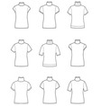 Short-sleeve turtleneck vector image