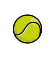 tennis isolated ball icon line ball vector image