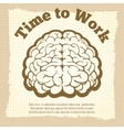 Time to work vintage poster vector image vector image