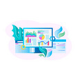 web design concept page optimization vector image vector image