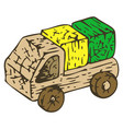 wooden toys boat vector image