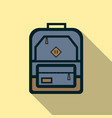 backpack icon flat vector image