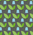 Blue bells seamless pattern Flowers background vector image