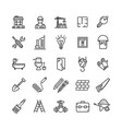 building construction elements and tools black vector image