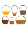 empty picnic basket set vector image