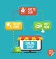 flat design concept for online shopping delivery vector image