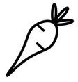 radish icon vector image