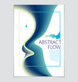 abstract flow fluid colorful blend art background vector image vector image