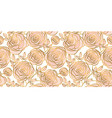 abstract rose strocke style header pattern vector image