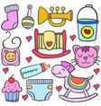 baby element of doodles vector image vector image