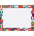 background with flags frame vector image vector image
