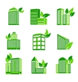 Building eco icon vector image