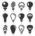 Bulb an icon vector image vector image
