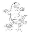 cartoon of people or businessmen running away vector image