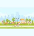 city children playground - modern cartoon vector image