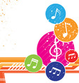 Colorful music notes background vector | Price: 1 Credit (USD $1)