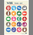 Customs and transport urban web icons set vector image