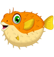 cute Blow fish cartoon vector image vector image