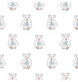 cute koala line seamless pattern for baby vector image vector image